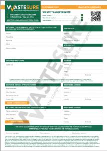 WasteSURE Digital Waste Transfer Note